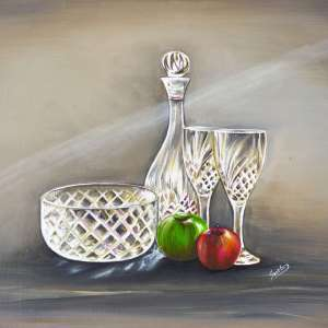 Crystal-bowl-and-wine-glasses