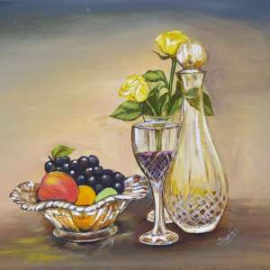 Crystal-fruit-bowl-and-roses