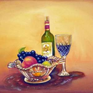 Crystal-fruit-bowl-and-wine
